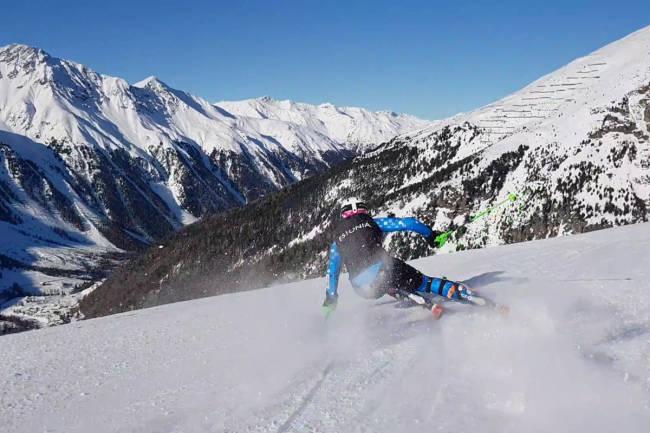 Vant med skibilde fra Italia