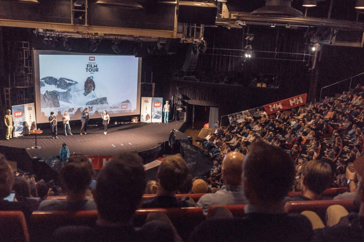 FILM TOUR: Chateau Neuf ble utsolgt, og leverte skifilmfest til alle i salen. Foto: Petter Westgaard