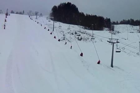 ÅPNER TORSDAG: Kongsberg skisenter åpner klokka 16 på torsdag. Foto: Webkamera/Kongsberg