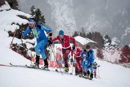 Det var italienere, sveitsere og franskmenn som dominerte helgas runde i randonee-verdenscupen i Andorra. Foto: International Ski Mountaineering Federation