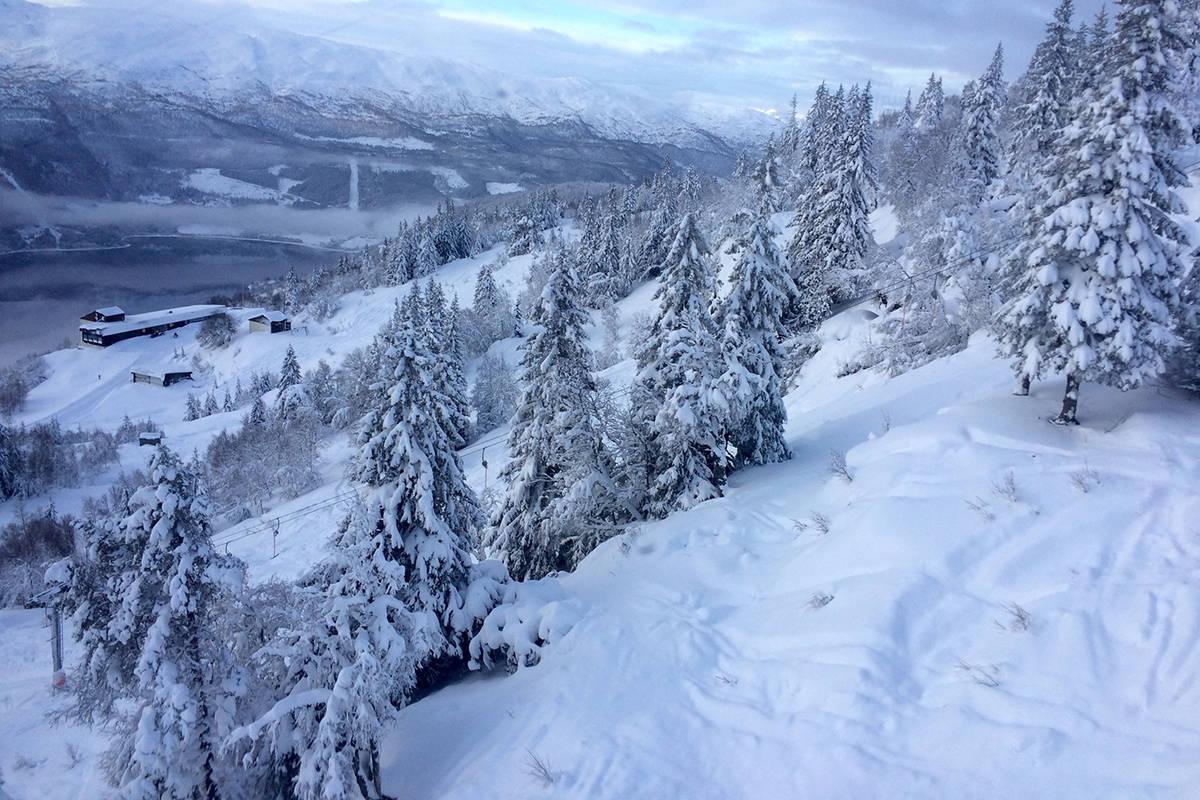 Bilde fra skianlegget på Voss
