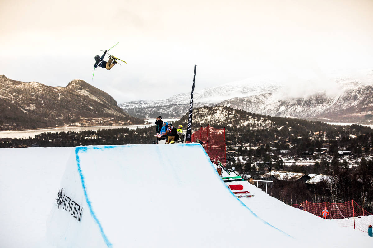 SKAL FINNE X GAMES-UTØVER: Hovden skal dele ut wildcard til slopestyle X Games. Her fra Big Air-konkurransen tidligere denne sesongen. Foto: Andreas Løve Storm Fausko
