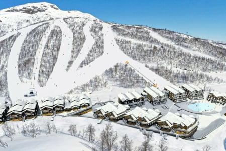 NYTT SKIOMRÅDE: Slik vil Hovden Alpinsenter bygge et nytt skiområde i anlegget. Foto: Hovden Utvikling AS