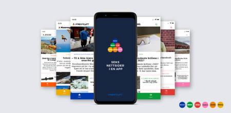 Fri Flyt app - seks nettsider i en app!