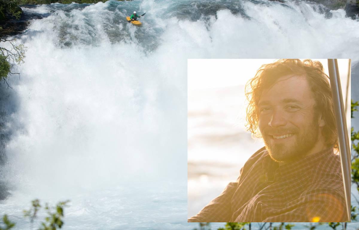 OMKOM SØNDAG: Benjamin Hjort var en friluftsmann av dimensjoner, og en av Norges beste elvepadlere. Søndag omkom han i skredulykken i Aurland. Foto: Nils Erik Bjørholt