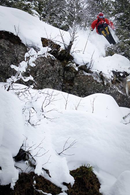Benjamin Hjort har også utmerket seg som skifotograf. Her med Asbjørn Eggebø Næss i Hemsedal.