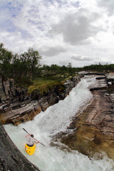 Ula i Oppland er en klassiker, som er brattere enn vanskegraden antyder. Foto: Tore Meirik