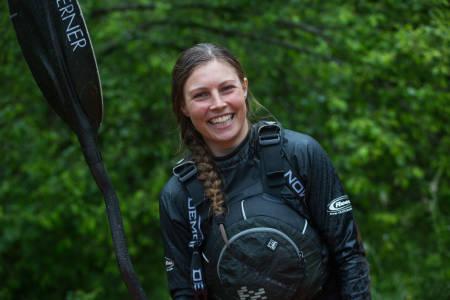 BEST IGJEN: Kamilla Sporsheim er umulig å slå i Ekstremsportvekos versjon av triatlon. Mandag vant hun Horgi ned for fjerde gang. Foto: Tore Meirik