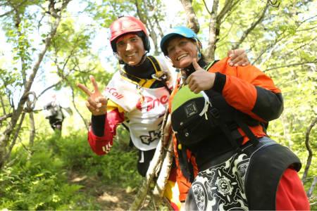Sam Sutton fra Okere falls på New Zealand og Mariann Sæther fra Otta i Norge var raskest i dag.