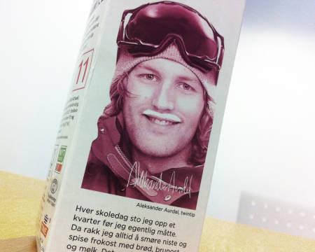 MELKEKJENDIS: I vinter skal Aleksander Aurdal tine mange pikehjerter på Tinder med sin flotte kefir-bart. Foto: Hans Petter Hval