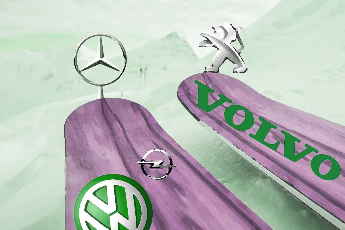 KJÆRT NAVN: Flere ski har navn fra bilmodeller. Vi tok konseptet et knepp videre.