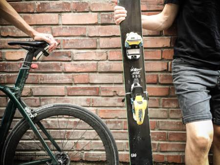DUELL: Når syklisten møter skikjøreren er dety duket for en historisk duell.