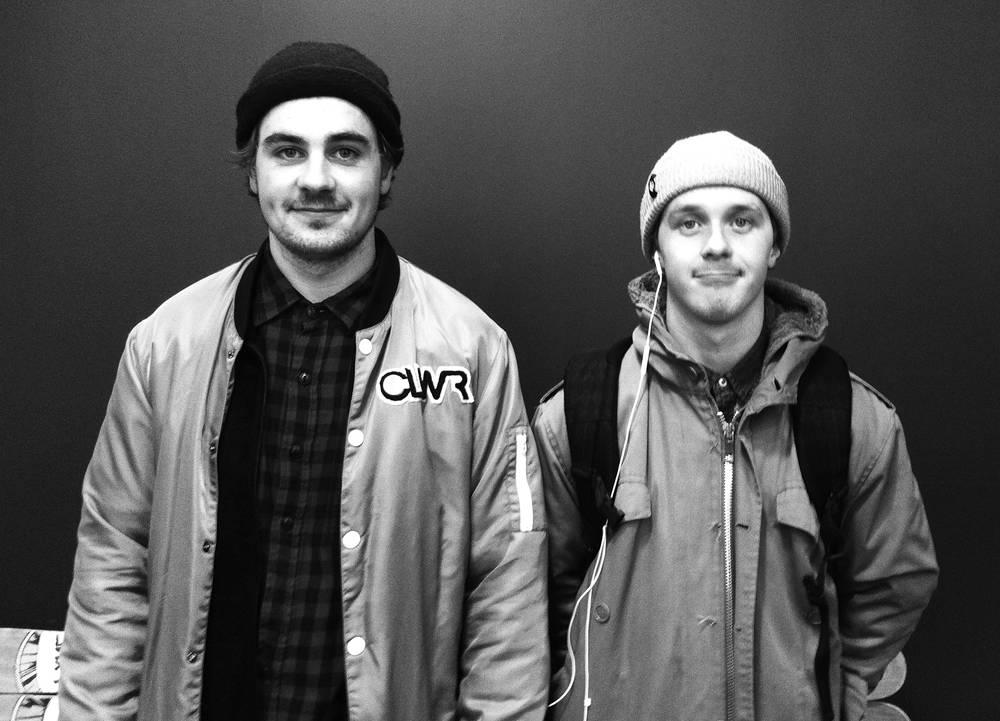 LAGER FILM: Magnus Støre og Chris Helberg kom innom Fri Flyt Podkast-studio med gode nyheter i dag. Foto: Hans Petter Hval