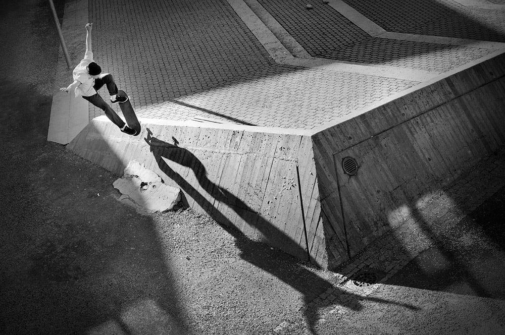 EKSEMPEL 1: Lars Gartå kan å ta skatebilder, noe dette blinkskuddet av Marcus Shaw viser. Foto: Lars Gartå