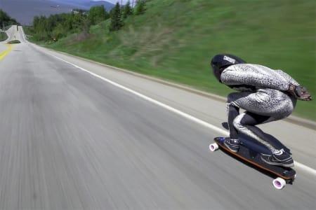 REKORD: 130 km/t er ikke verst. Foto: Skjermdump