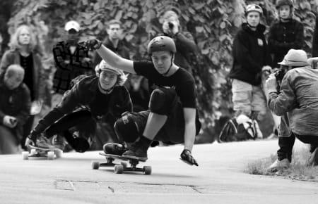 Juniorverdensmester Audun Guneriussen og mot Christoffer Sanne.