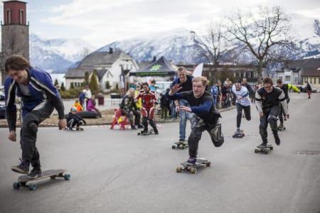 XBOARD: Hissige folk i starten!  Foto: Marius Bøstrand