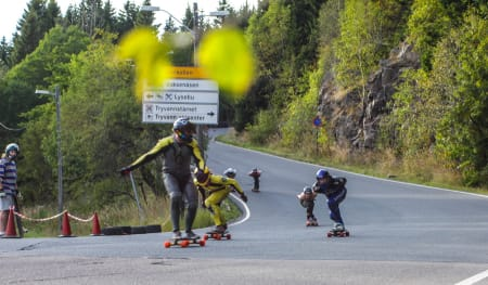 Finalebilde nr. to, bakerst følger Julian B. Syversætre, Kim M. Andersen og Henning Philip Patricksson.