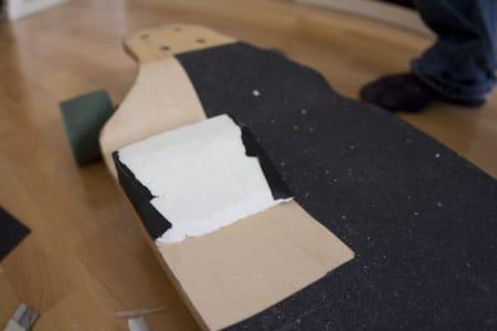 5. Plasser isoporbiten på brettet.