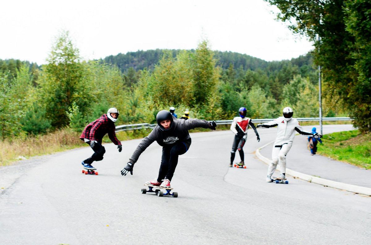 KONGSBERG DOWNHILLFEST: Lørdag skjer det i Gasellveien i Kongsberg. Foto: Stine-Marie Myklemyr
