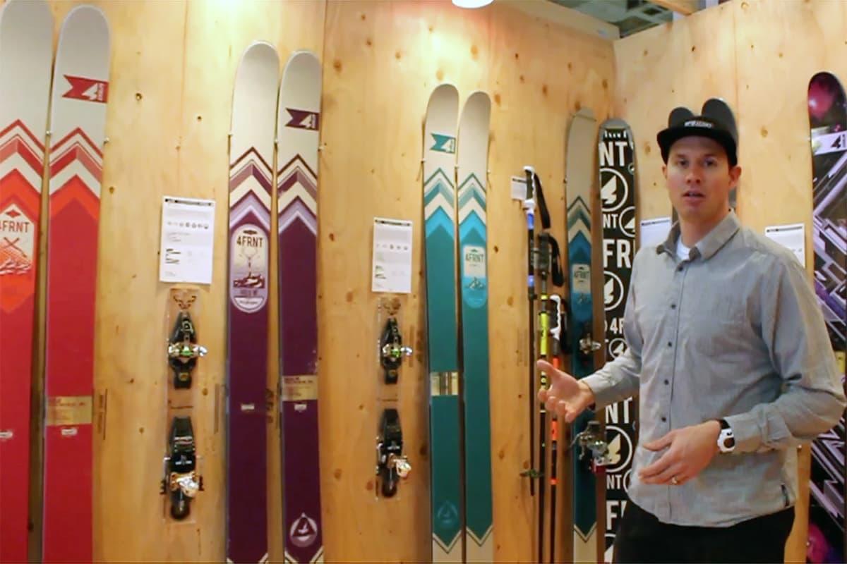SLANKES: Nå blir 4frnt-skiene mindre. Her demonstreres Hoji-skien. Foto: Skjermdump