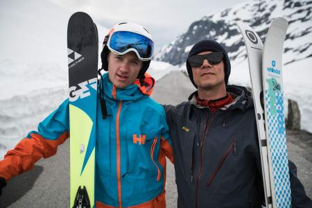 TOK MANNEPRØVEN: Carl Peder Engeset og vikarierende mentor Fred Syversen. Bilde: Christian Nerdrum