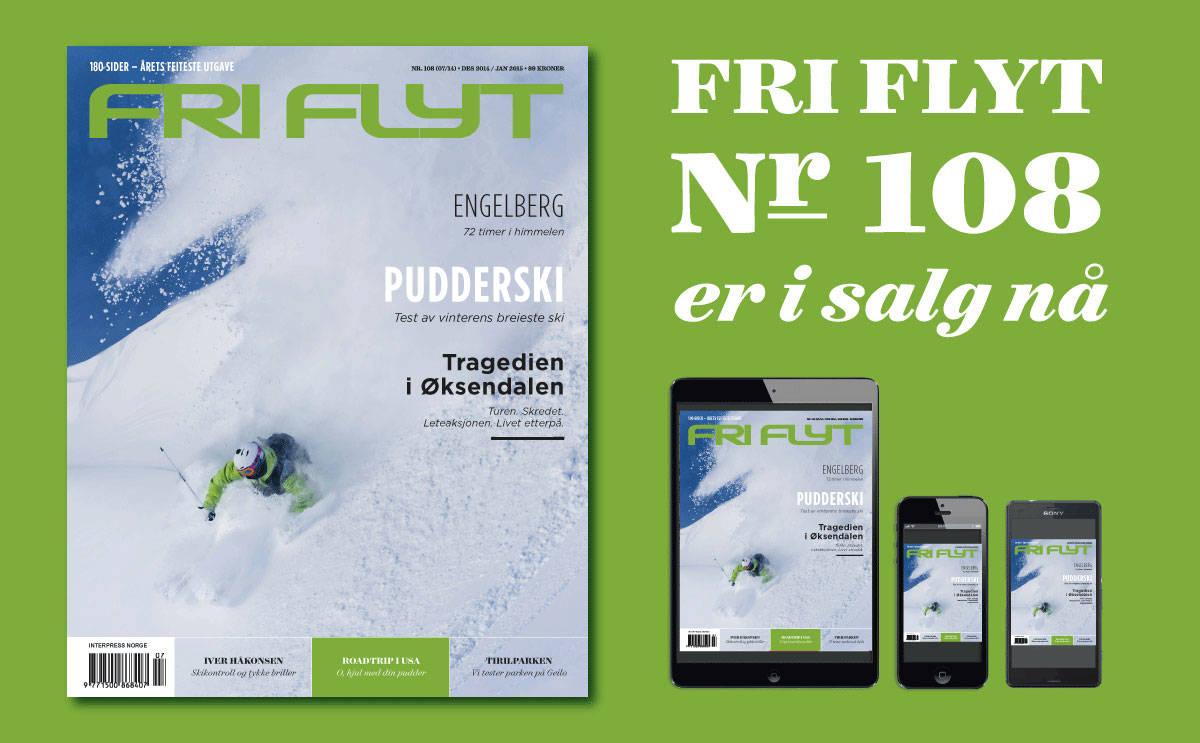I SALG I DAG: Torsdag kommer Fri Flyt nummer 108 -årets tjukkeste utgave- til en bladkiosk, telefon eller et nettbrett nær deg!
