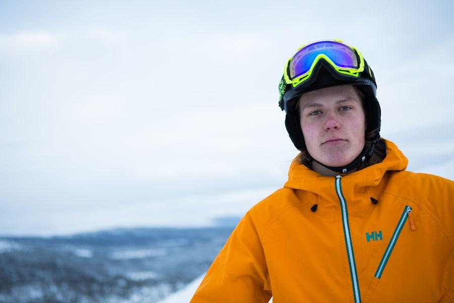 NUMMER TO: Øystein Aasheim fra Vågå imponerte i Sainte Foy i går. Foto: Tore Meirik