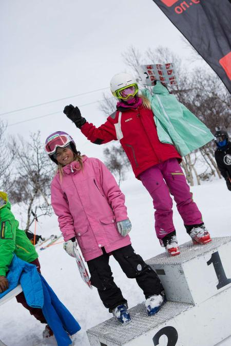 To jenter kjørte i klassen Jenter 11-12: Fanny Wagenius fra Funäsdalen ble nummer to, og lokale Pia Møller vant.