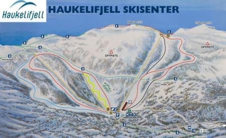 SKRED: Skredet skal ha gått nær Haukelifjell Skisenter.