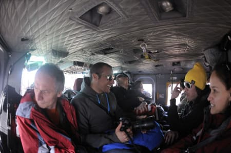"""Det er god plass til 14 personer i """"bussen"""". Bilde: Endre Løvaas"""
