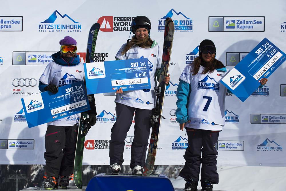 SEIER: Anja Alme Gardli vant med rekordpoengsum i dag, og dermed lever FWT-drømmen fortsatt! Foto: Andreas Løve Storm Fausko