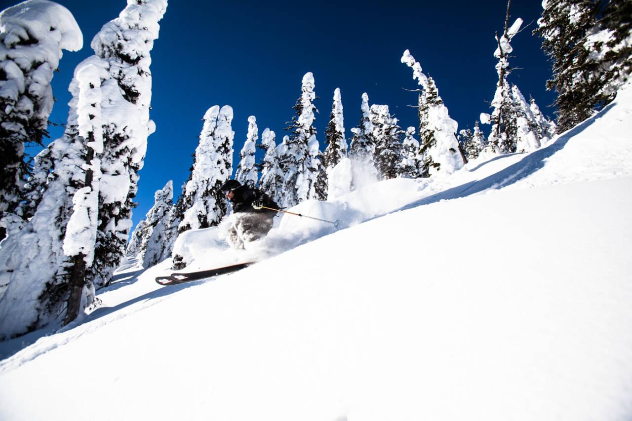 SLEKTSTRÆR: Lite visste vel Knut Harald Enger om at nordmannen Olaus Jeldness var den første til å vinne en utforkonkurranse avholdt i Canada, nettopp her i Red Mountain for 114 år siden. Det var de skandinaviske gruvearbeiderne i Rossland som hadde med seg skikunnskap til landet, og startet dermed Rossland Ski Club. Bilde: Christian Nerdrum