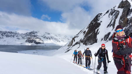 EKSOTISK: Topptur på Bjørnøya er ikke mange forunt - men denne gjengen var der i vår. Foto: Ole Kristian Strøm