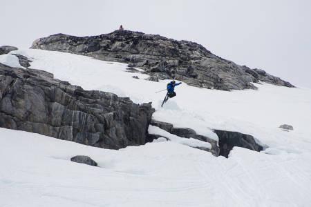Sondre Lindkjølen herjer på tech-bindinger. Foto: Vegard Breie