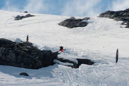 Åsmund Thorsen 3/4-dels snurr ut i en 360. Foto: Vegard Breie