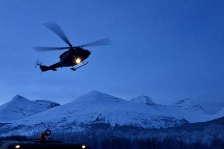 I kveld vil det blir søkt videre etter den siste av de savnede skiløperne i som ble tatt av skredet i Tamokdalen 2. januar. Foto: Sjur Melsås