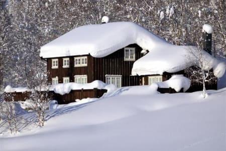 En del snø.