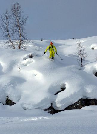 Henrik Breuer i lekent terreng. Foto: Øyvind Waitz