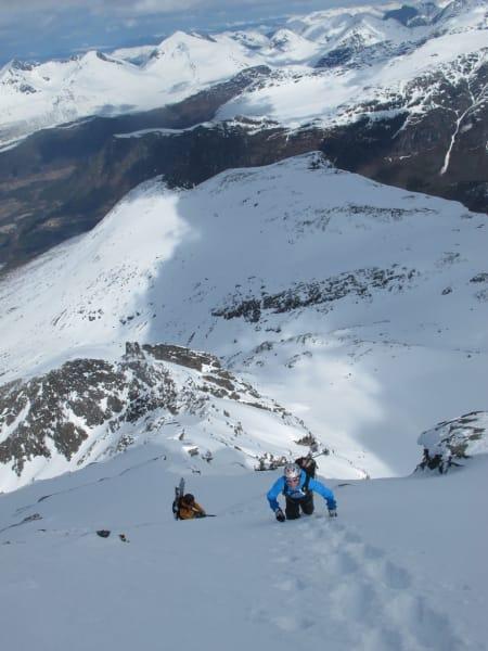 Blir interessant å kjøre ned her på ski