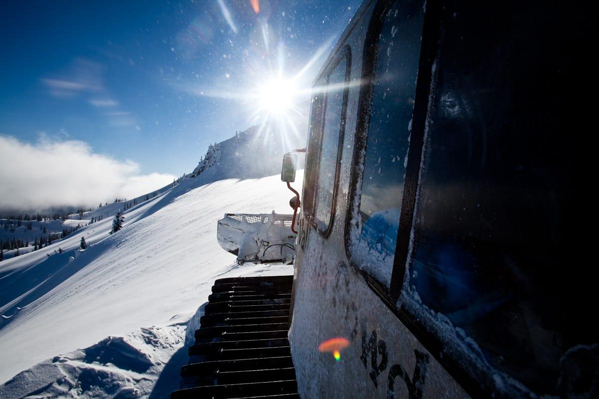 SJELDEN RASE: I motsetning til Canada, er catskiing nærmest ikke eksisterende i norske fjell. Nå får vi det på Vestlandet. Bilde: Christian Nerdrum