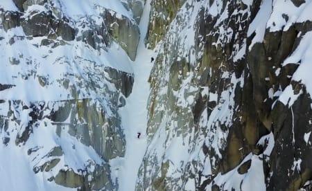 BRATT OG TRANGT: Mange av de drøyeste linjene i Chamonix i Frankrike er med i filmen.