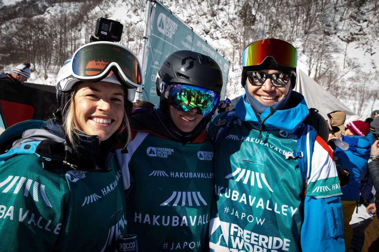 TEAM SKANDINAVIA: Hedvig Wessel sammen med Jackie Paaso (USA/Sverige) og Reine Barkered. Foto: Hans Petter Hval