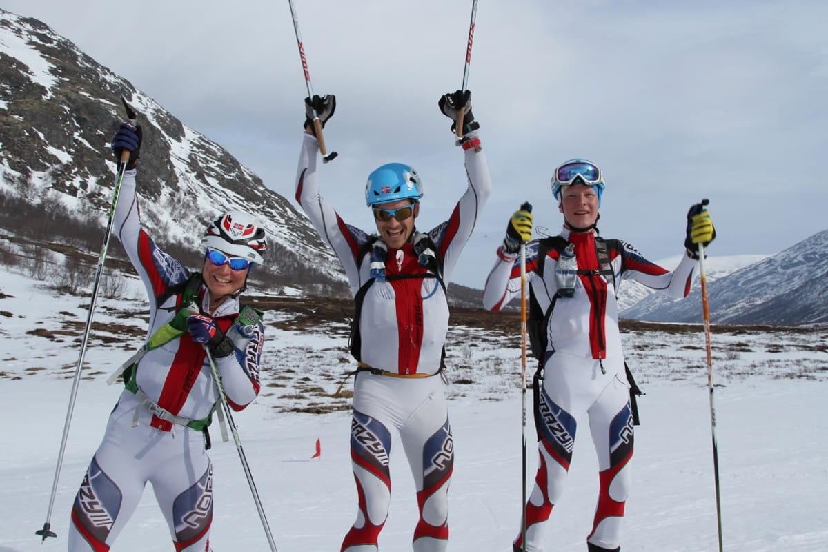 Gjertrud Hildegunn Hovdenak, Lar Erik Skjervheim og Sondre Andersson Svensli (junior) var raskest av alle under NM i Ranonee lørdag.