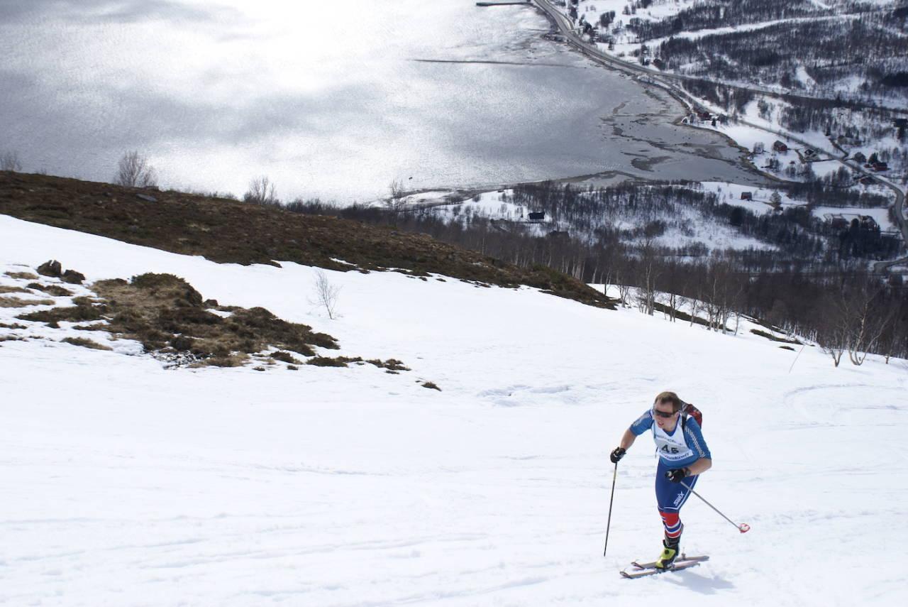 Daniel Boberg Leirbakken vant Langfjordrennet, nok en gang. Foto: Morten Fuggeli