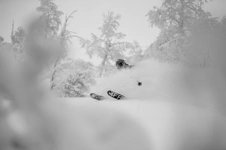 EN UKES LEVERANSE: En uke før Henning Skjetne kom, var det omtrent bart her. Foto: Sverre Hjørnevik