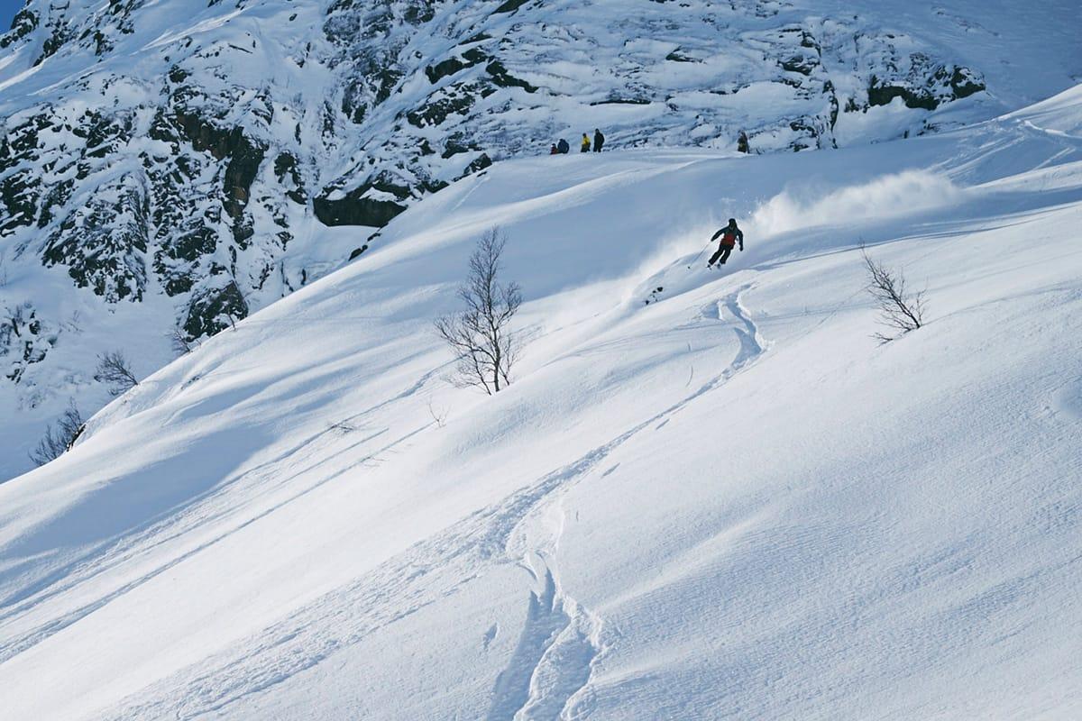 FINT: Det mangla ikke mye under Fjellsportfestivalen og frikjøringskonkurransen i Sogndal i år. Foto: Petter Olsen