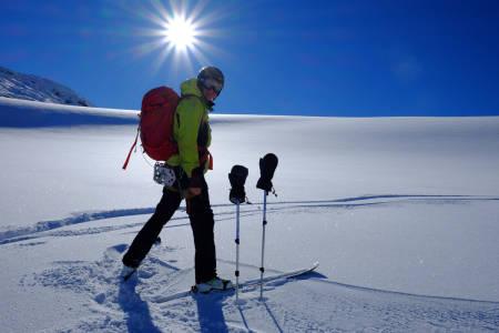 Magne Grihamar og Glenn Roar Berge på Koldedalsbreen. Foto: Glenn Roar Berge
