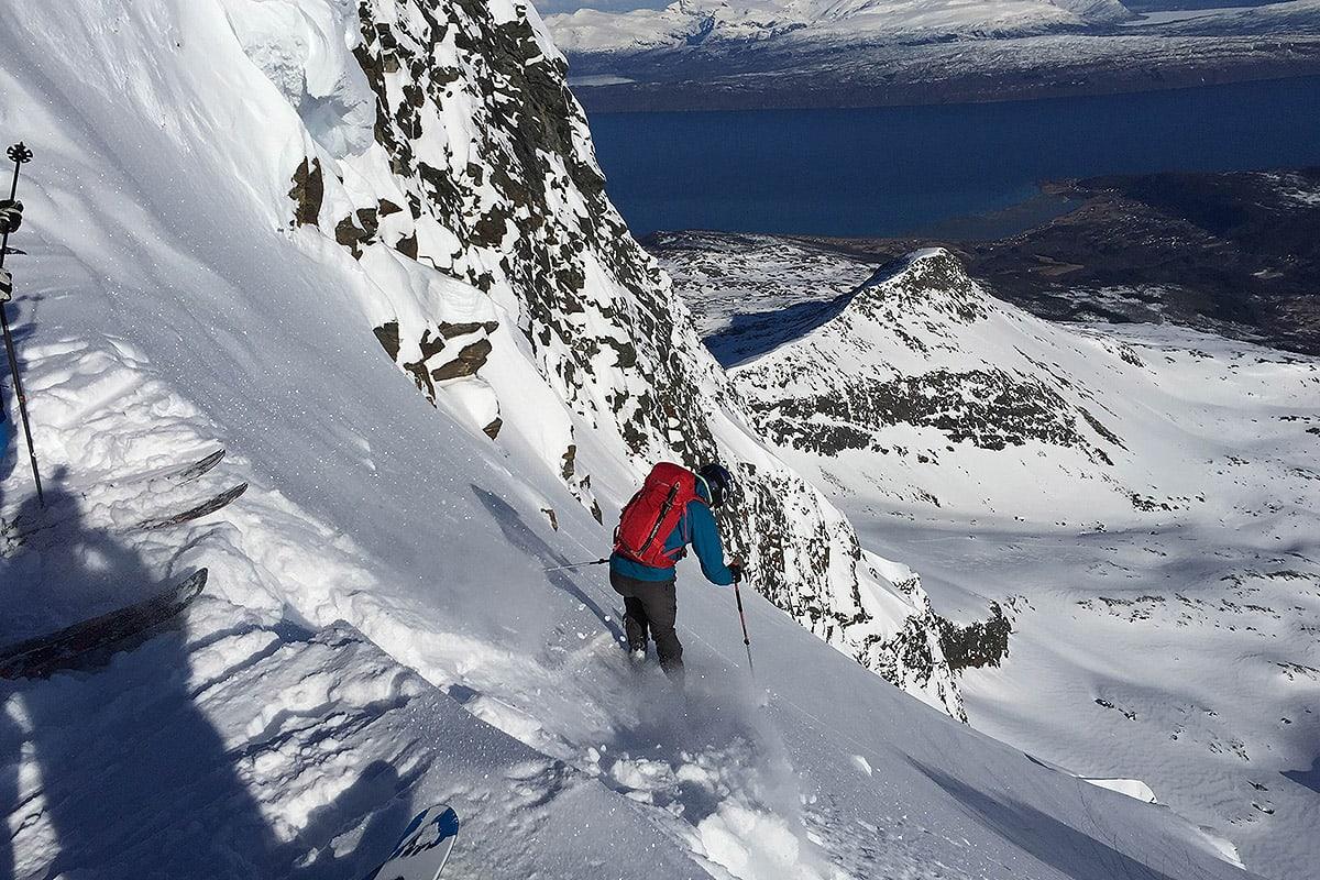 HEFTIG: Slik er nedkjøringa fra fjellet. Foto: Torje Karlsen