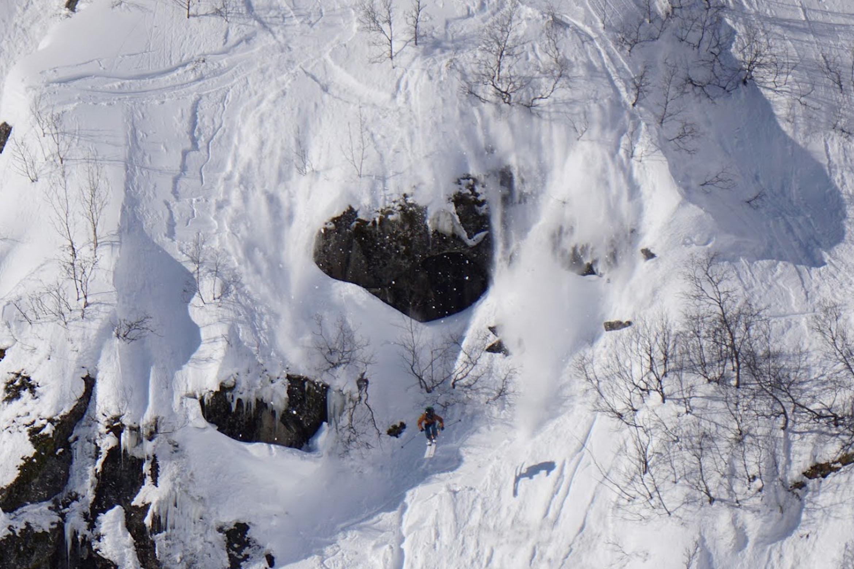 GIKK STORT: Stinius Skjøtskift sendte en stor 360 i starten av sitt run, i tillegg til et svært dropp. Foto: Leif Andre Enevoldsen